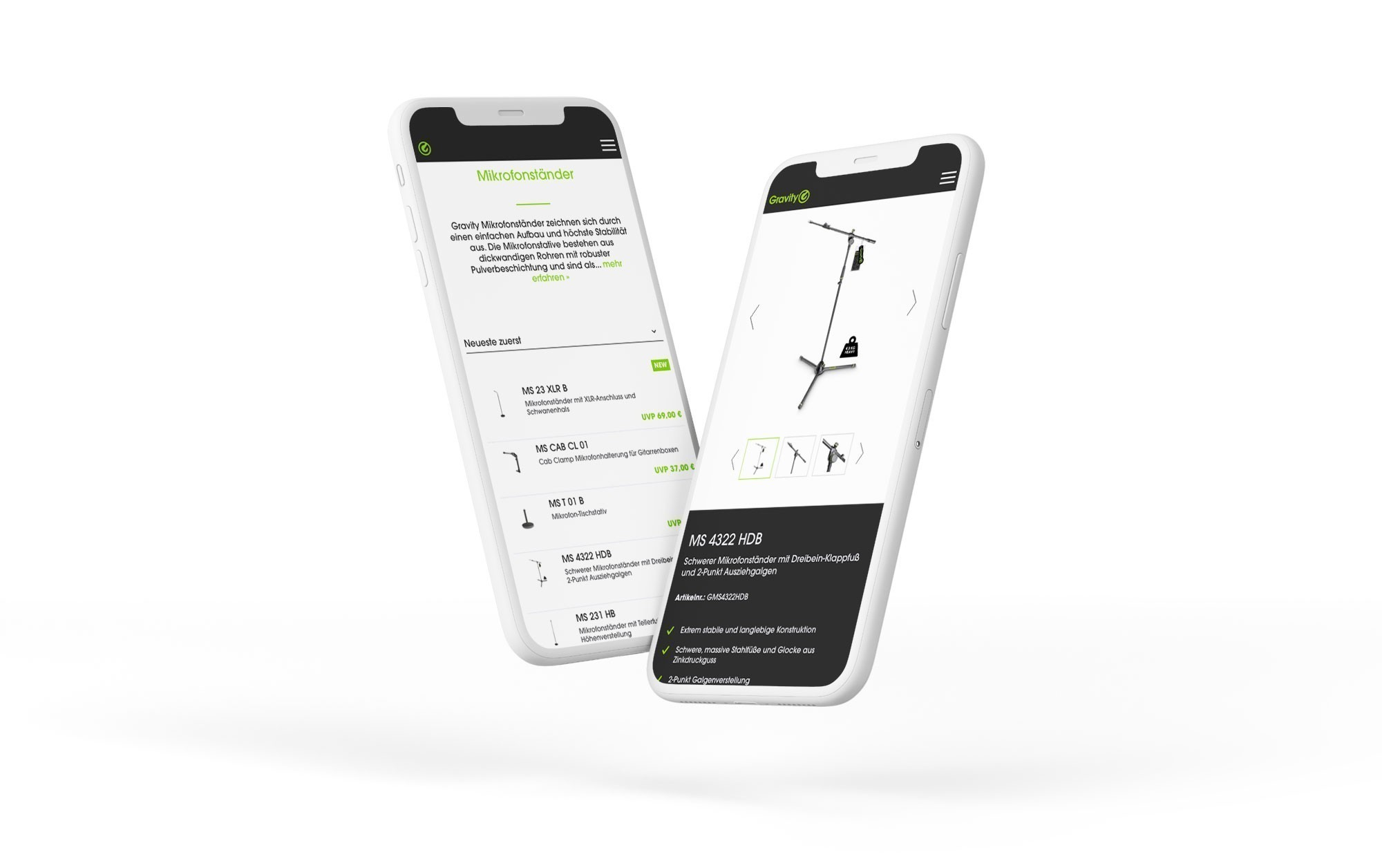 Projekt Screen Mobile Gravitystands