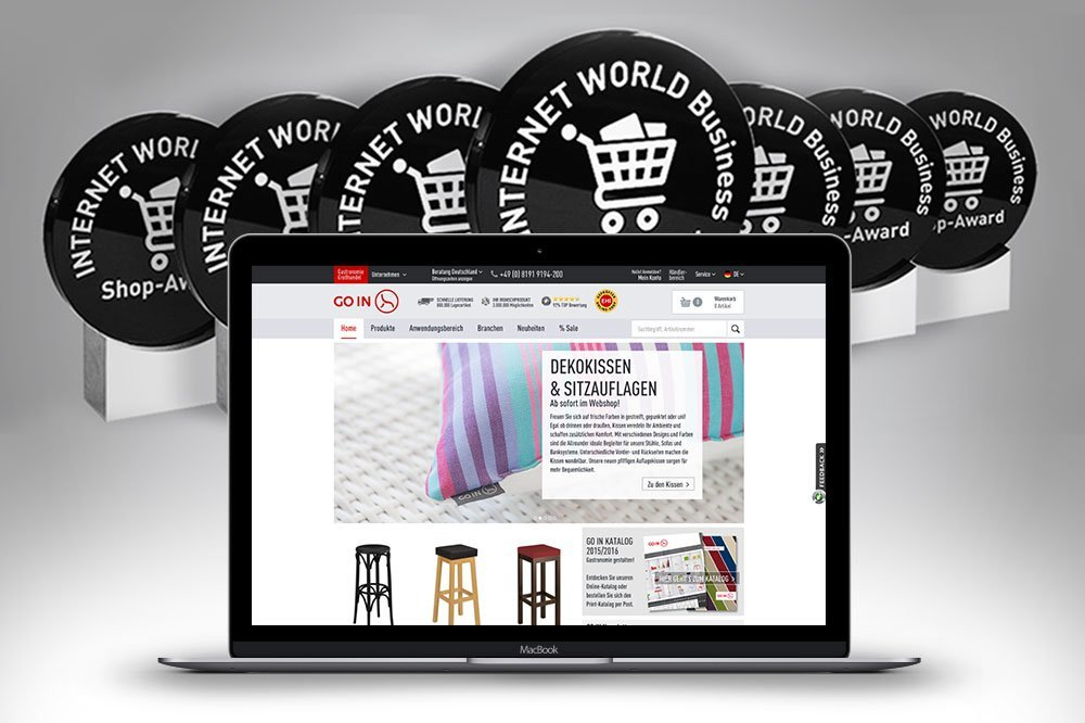 GO IN unter den Finalisten des Internet World Business Shop-Awards 2016